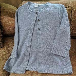 Sag Harbor XL Light Blue/White Sweater Women's